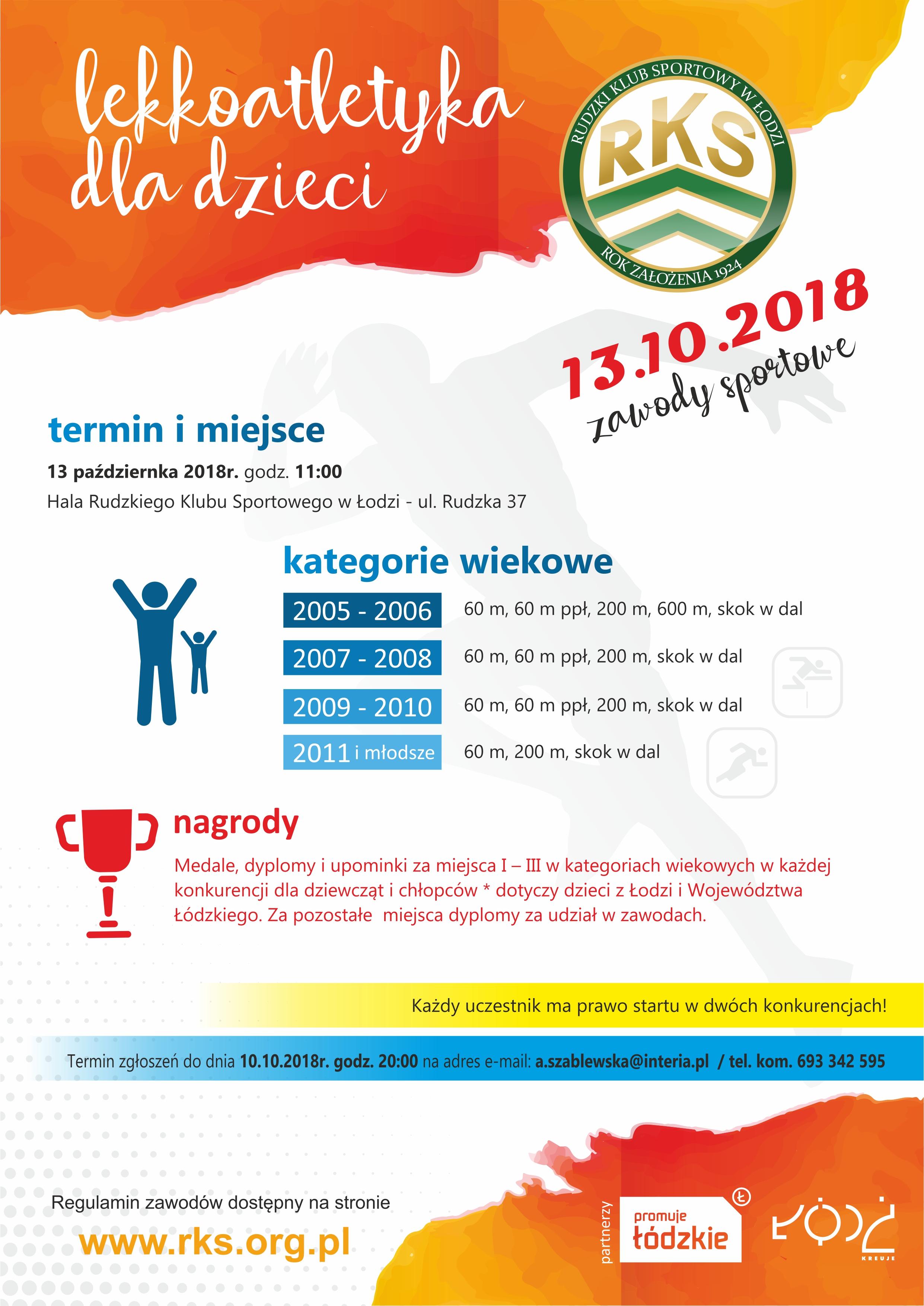 2018 plakat lekkoatletyka dla dzieci